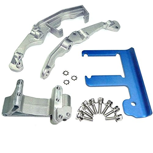 Traxxas Revo 3.3 ENGINE MOUNT & 6061 T-6 BLUE ANODIZED ALUMINUM CHASSIS ()