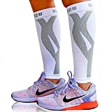 Compra Blitzu Calf Compression Sleeve Socks One Pair Leg Performance Support for Shin Splint & Calf Pain Relief. Men Women Runners Guards Sleeves for Running. Improves Circulation and Recovery White L/XL en Usame