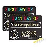 Pearhead First and Last Day of School Photo Sharing Chalkboard Signs; The Perfect Back to School Chalkboard Sign to Commemorate The First Day of School, Set of 2