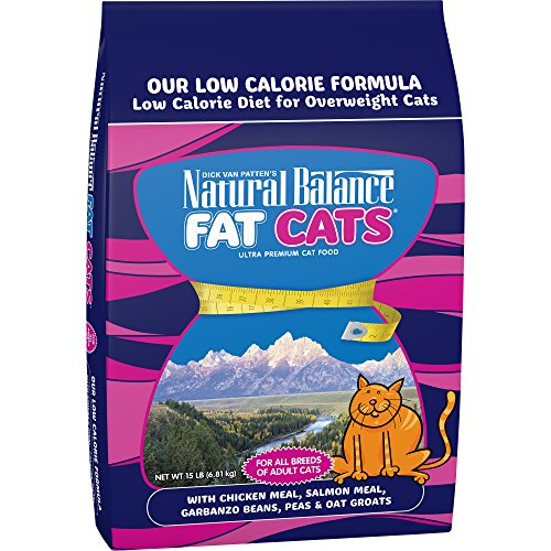 Cat Kitty Fat - Natural Balance Fat Cats Low Calorie Dry Cat Food, 15-Pound