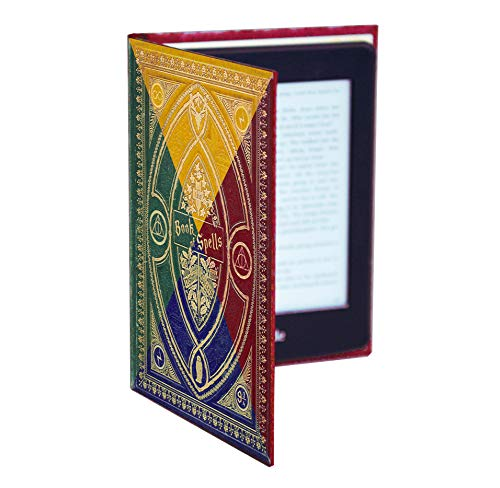 Harry Potter Themed Book of Spells Kindle Paperwhite Cover (Hogwarts House Colours)