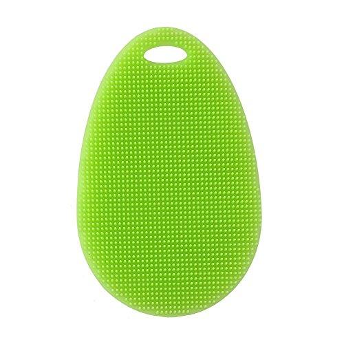 JUMUU Silicone Dish Scrubber /Silicone Dish Washing Brush - Kitchen Wash Tool Pot / Pan Dish Bowl / Washing Fruit and Vegetable -100% Food Grade Dish Scrubber Brush