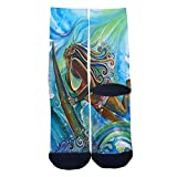 Surfing Girl Socks Tube Socks Cool Street Socks Hip Hop Street Professional Skateboard Sports Men Women Socks Black