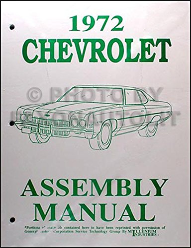 - 1972 Chevy Assembly Manual Reprint Impala, Caprice, & Bel Air