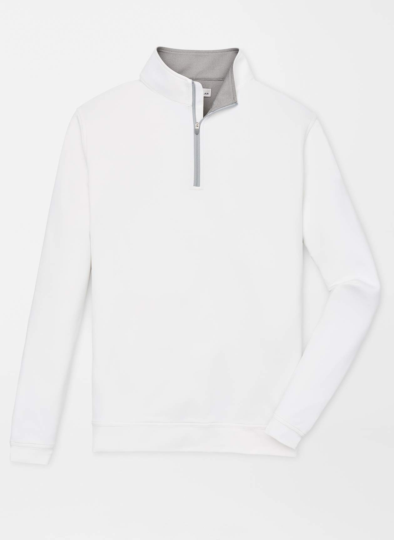 PETER MILLAR Perth Stretch Loop Terry Quarter-Zip White - M by PETER MILLAR
