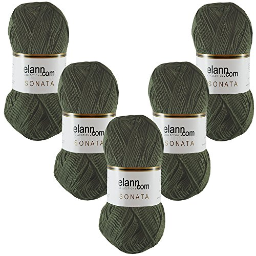 elann Sonata Yarn | 5 Ball Bag | 5923 Tuscany Olive
