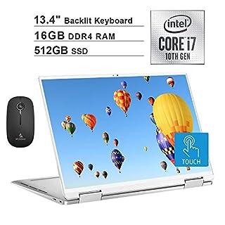 2020 Dell XPS 13 7390 13.4 inch FHD 1200P Touchscreen 2-in-1 Laptop| Intel Core i7-1065G7 up to 3.9GHz| 16GB RAM| 512GB SSD| Backlit KB| FP Reader| Win10| Silver + NexiGo Wireless Mouse Bundle