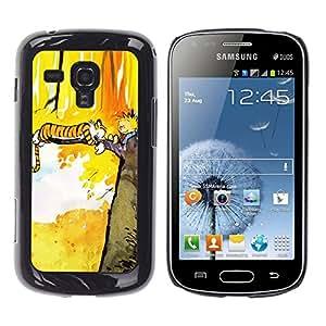 CASEX Cases / Samsung Galaxy S Duos S7562 / Tiger T1Gger Adventure # / Delgado Negro Plástico caso cubierta Shell Armor Funda Case Cover Slim Armor Defender