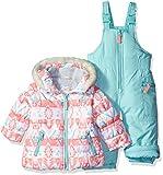 Carter's Baby Girls' 2-Piece Heavyweight Printed Snowsuit, Mint, 12M