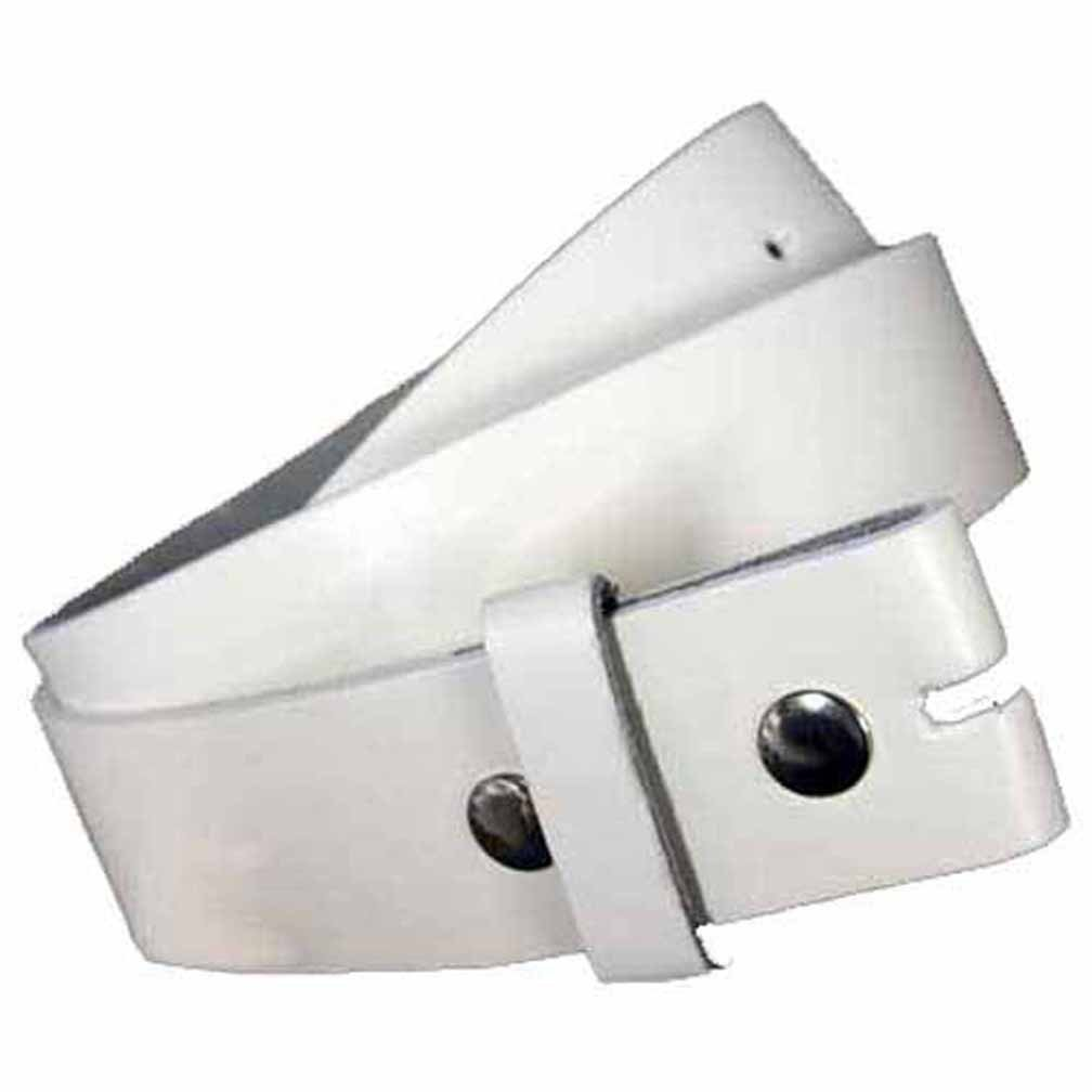 White 1.5'' Wide Snap Removable Buckle Belt Size Large