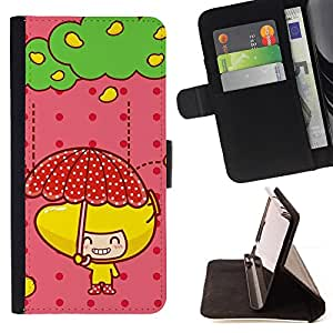 For Samsung Galaxy S3 Mini I8190Samsung Galaxy S3 Mini I8190 - Cute Fruit Girl /Funda de piel cubierta de la carpeta Foilo con cierre magn???¡¯????tico/ - Super Marley Shop -