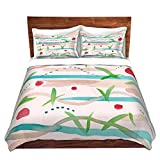 DiaNoche Designs Artist Catherine Holcombe-Southwest Song Brushed Twill Home Decor Bedding Cover, 2 Twin Duvet Only 68'' x 90''