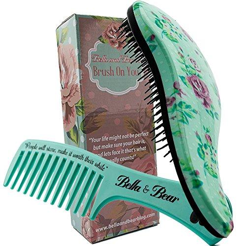 Haarbürsten-Set von Bella & Bear, die beste entwirrende Bürste und Kamm für nasses oder trockenes Haar, ideal für Erwachsene und Kinder, keine verknoteten Haare mehr.