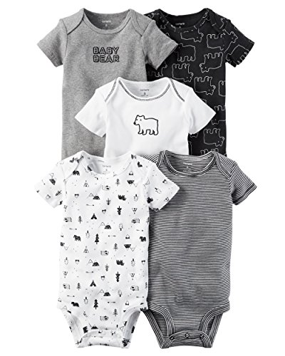 Bear Suits For Babies (William Carter Baby Boys' 5 Pack Bodysuits (Baby) Bear, 3 Months)
