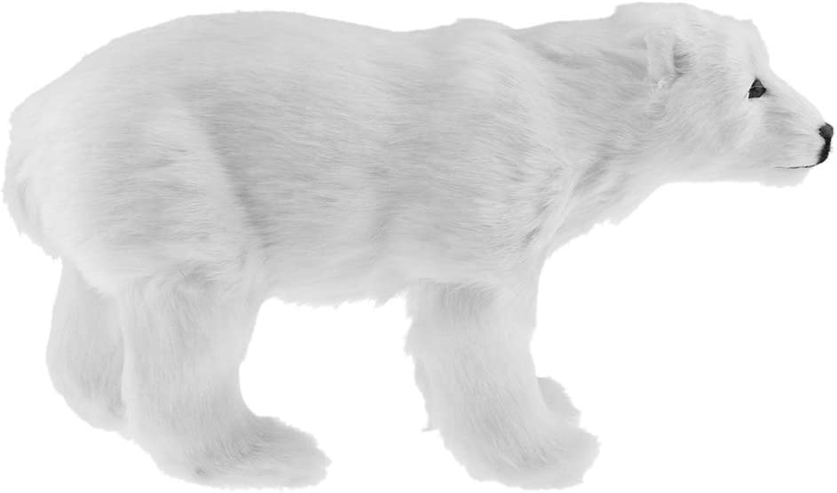 joyMerit Realistic Polar Bear Animal Garden Statue Figurine - Best Art Décor for Indoor Outdoor Home Or Office - 31x18cm