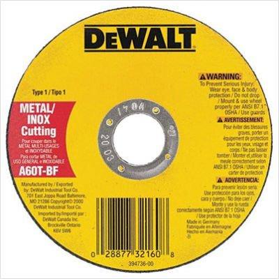 DeWalt DW8065 Metal & Stainless Cutting Wheel, 8700 RPM, .045'' Thick, 7'' Diameter - Lot of 25