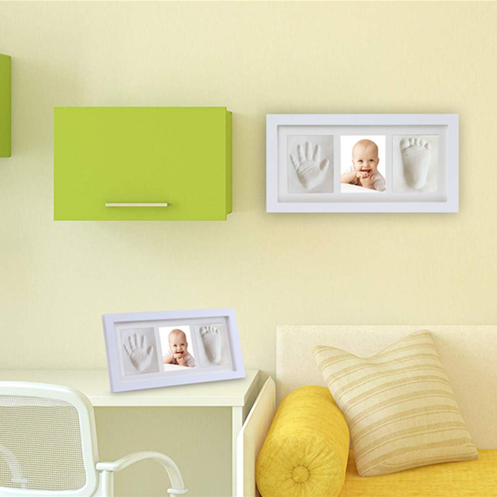 NO Mold | Perfect Shower Gift for Newborn Boys /& Girls and Little Pets Baby Hand and Footprint Keepsake Non-Toxic Clay Photo Frame Registry Keepsake for Wall Mount /& Desktop Mount Decor