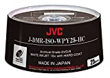 JVC ISO ARCHIVAL GRADE DVD-R MADE IN JAPAN WHITE INKJET 16x HARD COAT 25 PACK Part# J-DMR-ISO-WPY25-HC