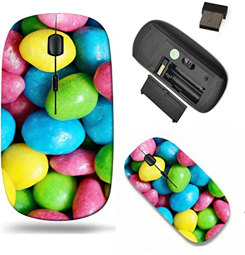Liili Wireless Mouse Travel 2.4G Wireless Mice with USB Receiver, Click with 1000 DPI for notebook, pc, laptop, computer, mac book Raisins in a colorful glaze Image ID -