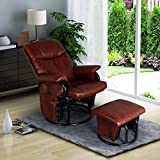 AODAILIHB Glider Chairs Rocking Chair with Ottoman