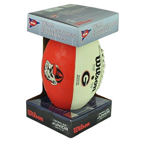 Brett Official Favre Football - NCAA Georgia Bulldogs Wilson Football Size Junior Ball Fan Game Play Collectible