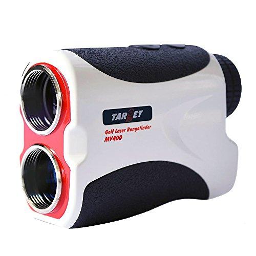 Target Golf Rangefinder, 440yd 6X Distance Measure Laser Handheld Monocular Telescope, Hunting Range Finder with Pin Sensor