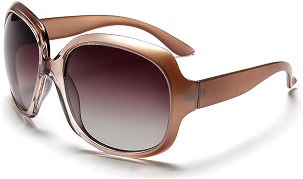Women Oversized Sunglasses UV400 Protection Polarized Large Frame Glasses - B BIDEN