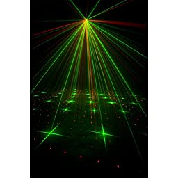American DJ Micro Star Green and Red Laser Lighting Effect with Wireless Remote