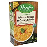 Pacific Natural Foods Poblano Pepper Corn Chowder 17.6 Oz (Pack of 12)