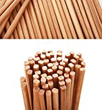 Chopsticks Reusable Dishwasher Safe Natural Chinese Health Wooden Bamboo Chopsticks,Long 10 Pairs Sets for Restaurant Home Use Premium Material (As Picture)