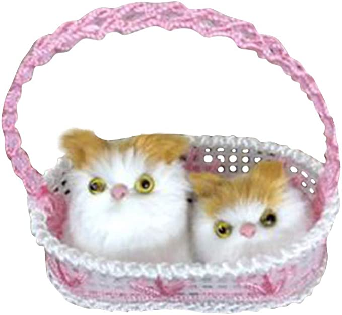 TwoCC-Juguetes para niños, Cestas de compras, Parejas, Control por voz, Simulación de gatos, Gatos lindos, Adornos para la decoración del hogar, Juguetes para niños, 14X13X9cm (A): Amazon.es: Bricolaje y herramientas
