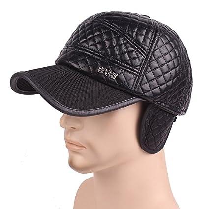 Gorra de béisbol más terciopelo engrosamiento protección para los oídos al aire libre sombreros de montar a caballo de… MJGFpmzcC