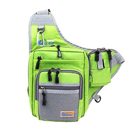 Ilure Multi-Purpose Waterproof Polyester Fishing Bag Carp Fishing Reel Lure Tackle Bag (Green)
