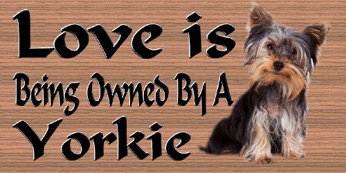 Dog Plaque Wood Sign Yorkie