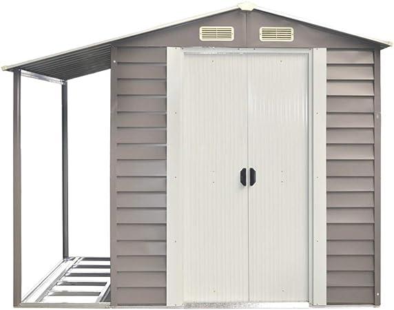 Verdelook - Caseta de jardín con techo lateral, 152 x 298 x 203 cm, color gris: Amazon.es: Jardín