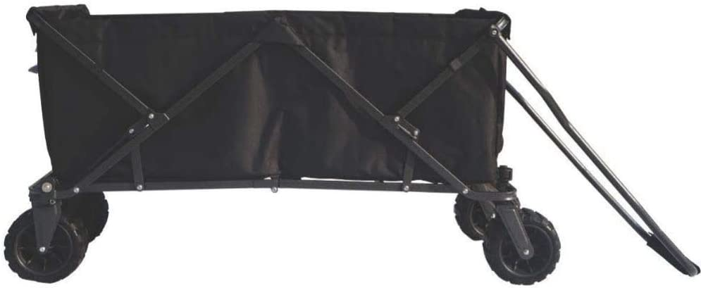 Impact Canopy Folding Collapsible Utility Wagon, Extra-Large Wagon with All-Terrain Wheels, Black