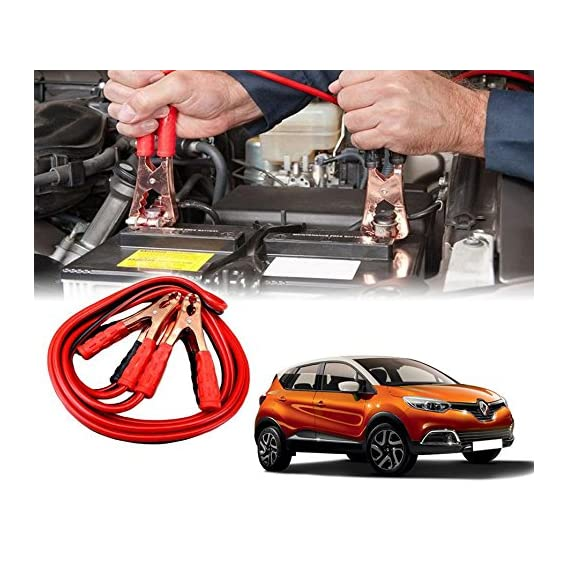 Auto Pearl Car 500 Amp Heavy Duty Jumper Booster Cables Anti Tangle Copper Core For - Renault Captur ()