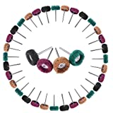 "NOUVCOO 40PCS Abrasive Buffs Polishing Wheel Set,1""(25mm) Shank Grinding Accessories for Rotary Tool,Grinder (NC15-US)"