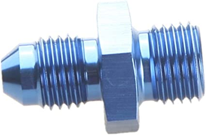 """BLUE 4AN AN-4 to 1//4/"""" NPT Male Thread Straight Aluminum Fitting Adapter"""