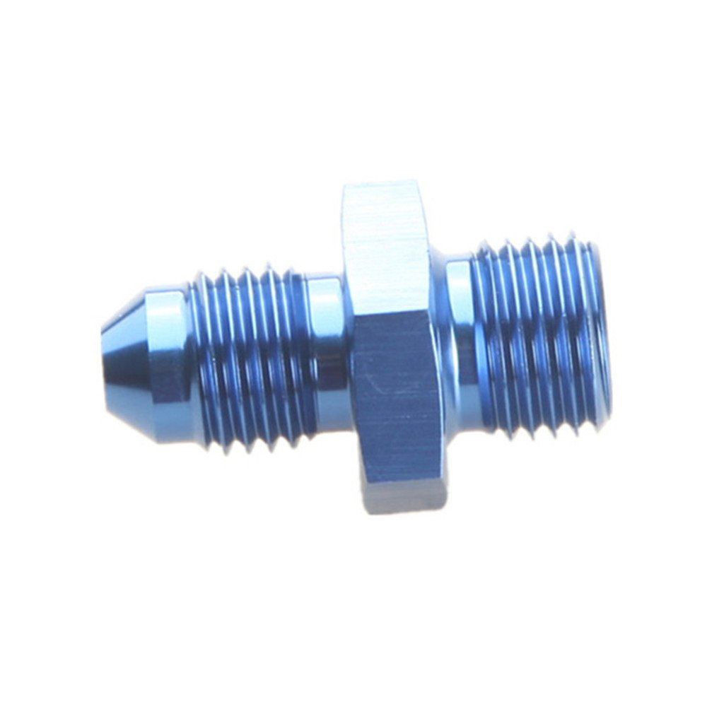 mm 4AN AN-4 To M10 x 1.25 Metric Straight Flare Male Fitting Adapter Black