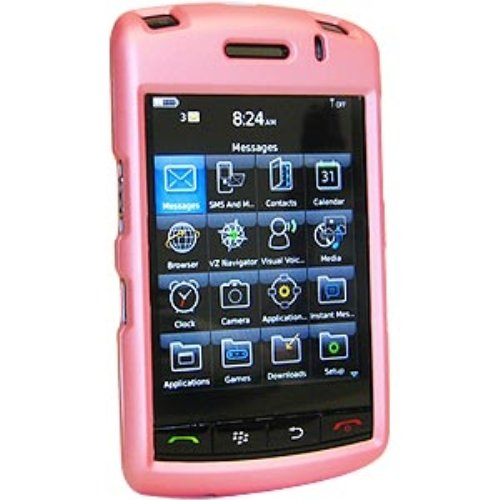 Amzer Rubberized Snap-On Crystal Hard Case for BlackBerry Storm 9530/9500 - Baby Pink (Case Storm Blackberry)