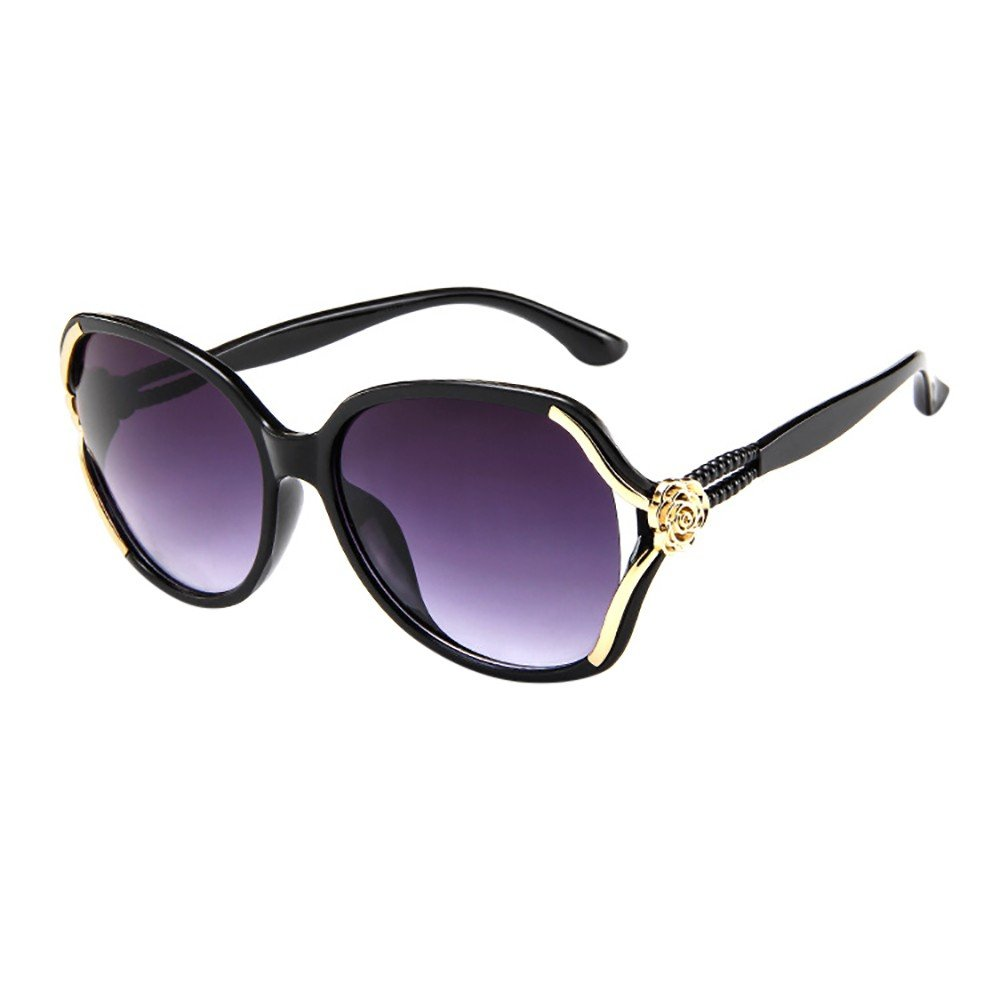 AMOFINY Fashion Glasses Mens Womens Rose Big Frame Retro Vintage Sunglasses Eyeglasses
