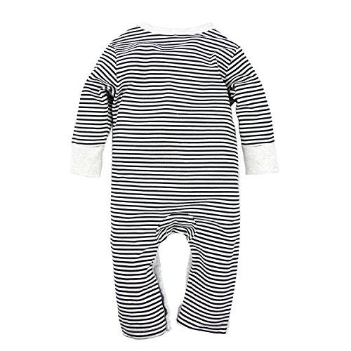 Big Elephant Baby Boys 2 Pcs Pajama Romper Sets with Hat Grey E14 (3-6 Months)