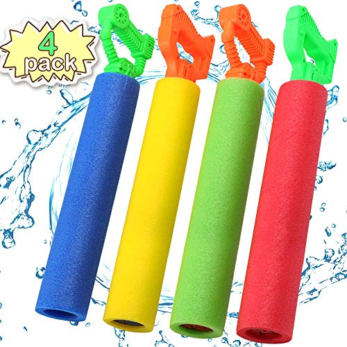 POKONBOY Water Guns for Kids Super Soaker, 4 Pack Water Blaster Squirt Guns Foam Water Gun Pool Swim Beach Toys for Boys Girls Kids Adults