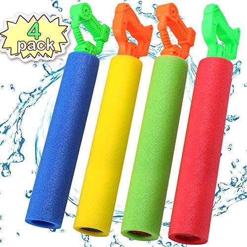 POKONBOY Water Guns for Kids Super Soaker, 4 Pack Water Blaster Squirt Guns Foam Water Gun Pool Swim Beach Toys for Boys Girls Kids Adults]()