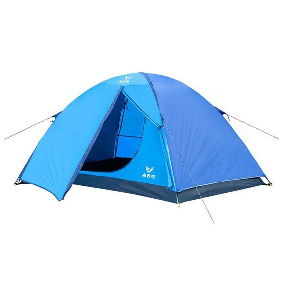 Z-Peng Bu テント屋外テントドームキャンプテント防水UVプロテクションポータブルテント2人用 ++ (色 : 青)  青 B07JDVCFXN