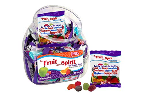Scripture Candy 118284 Candy Fruit Of The Spirit Gummy Fruit Snack Counter Jar by Scripture Candy