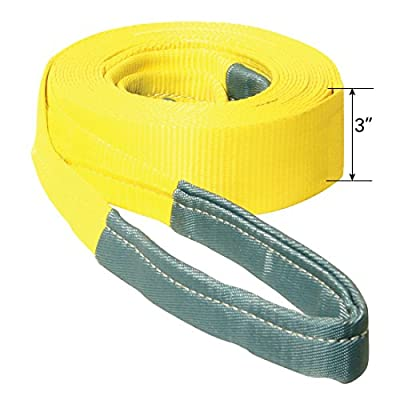"""Vehicle Recovery Strap - 3"""" X 30' with Reinforced Eyes"""