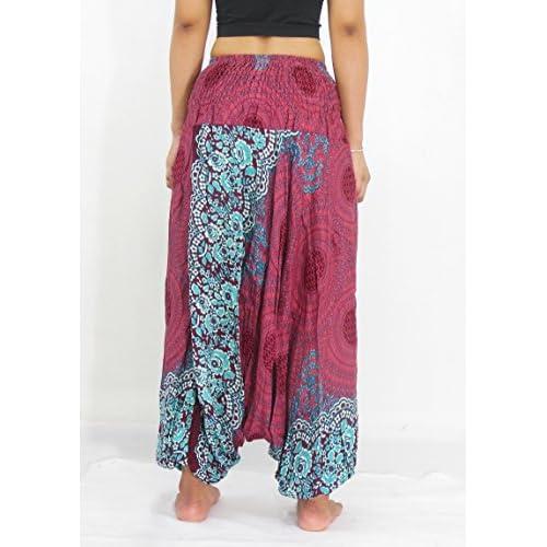 NaLuck Pantalones hippies para mujer fd1a8500efc2