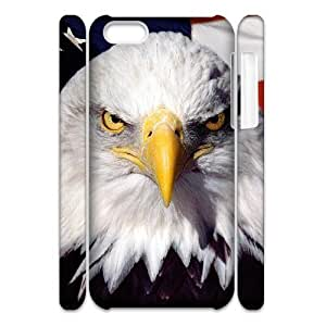 Cell phone 3D Bumper Plastic Case Of Eagle For iPhone 5C